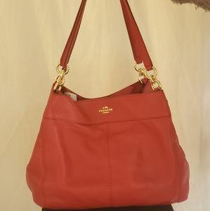 Coach Red Leather Shoulder Bag